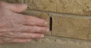 Brick wall weep hole