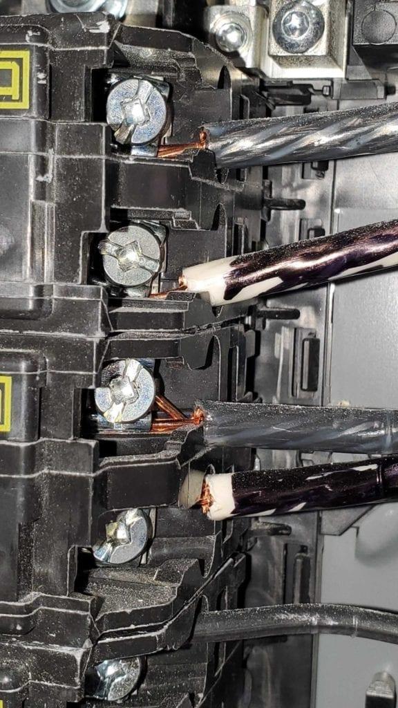 cut multistrand circuits
