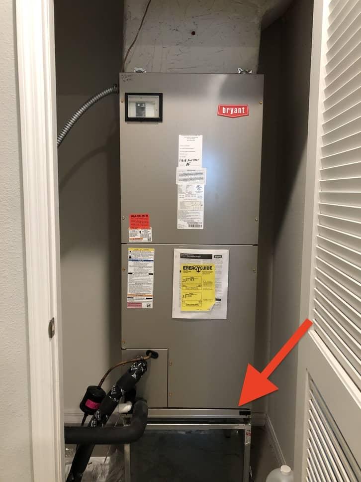 air handler filter location