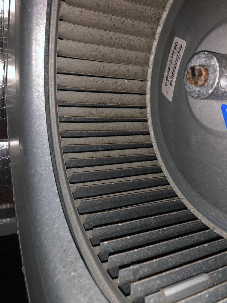 Dust on Air Handler Fan Blades