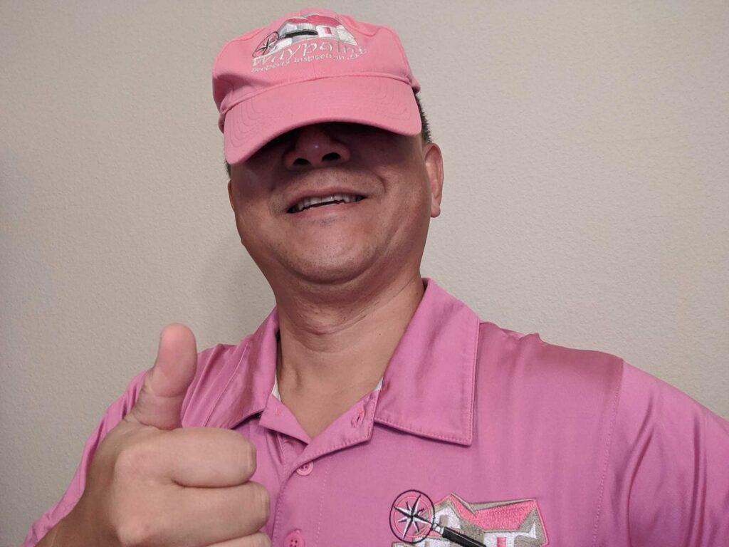 Eddy Lai wearing Pink