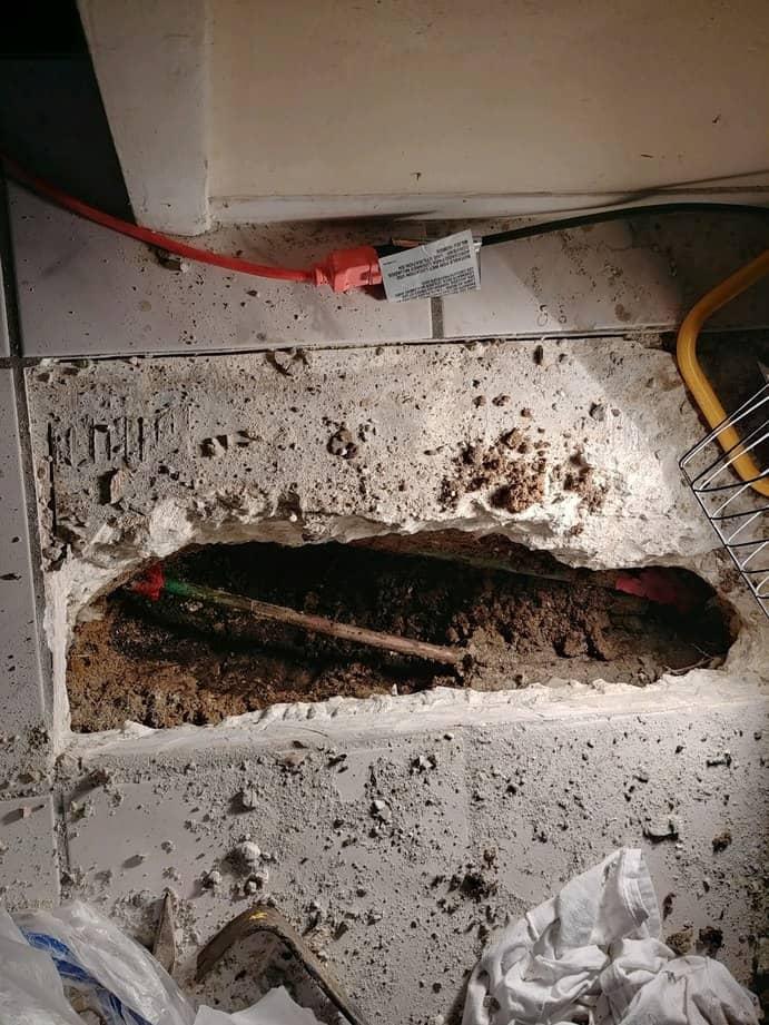 copper pipe pinhole leak repair