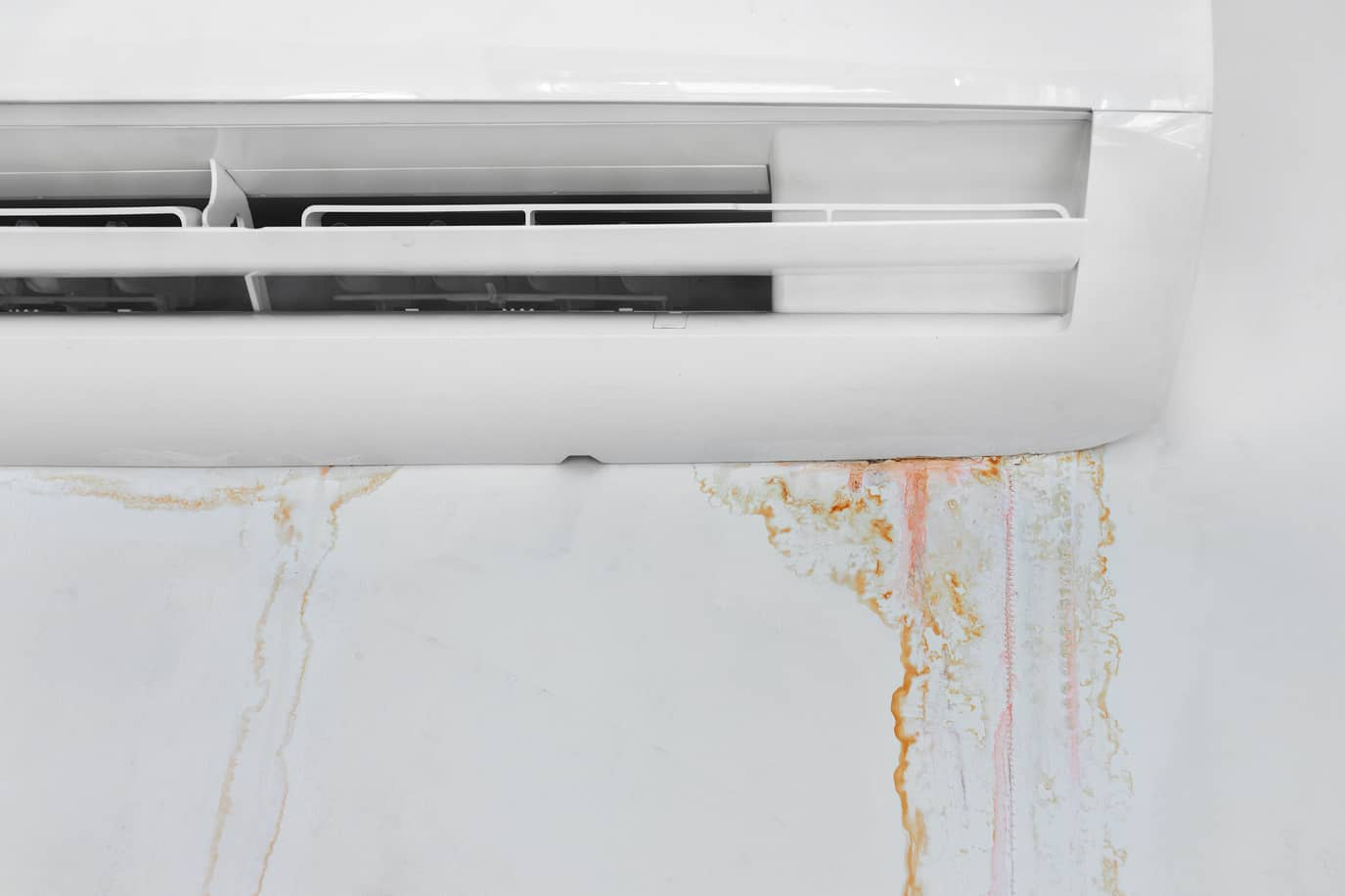 AC Leaking Water and leaving water stains on the wall